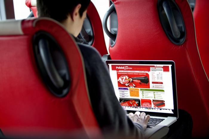 Polski bus wnętrze autobusu