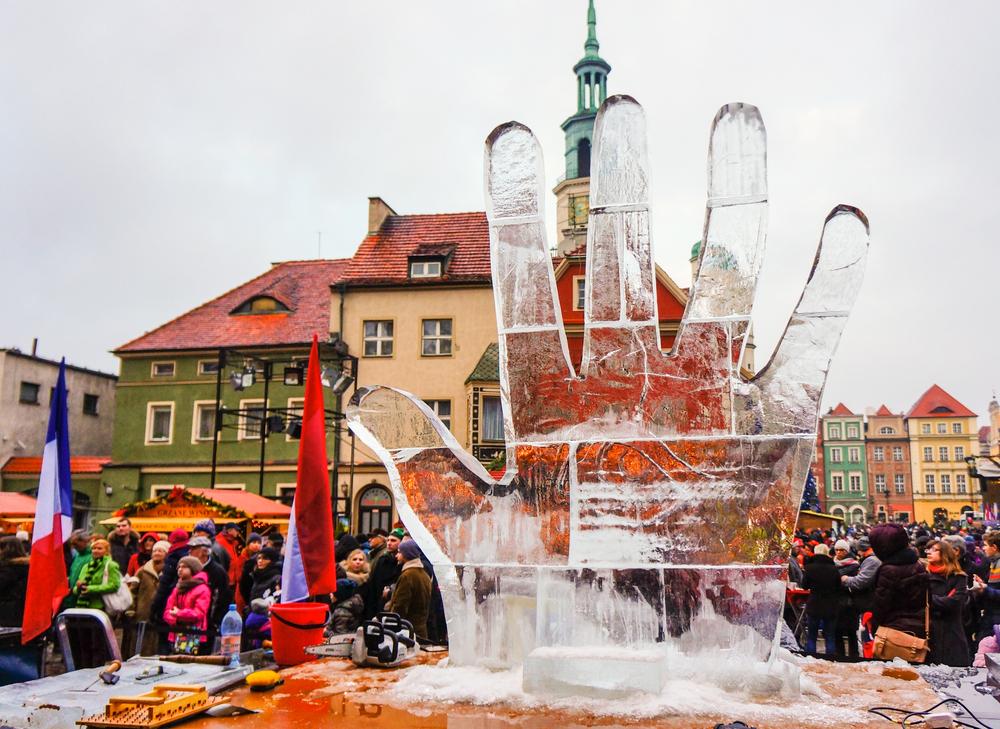 Festiwal Rzeźby Lodowej w Poznaniu